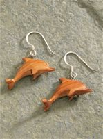 Dolphin Wood Earrings