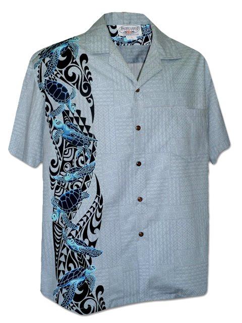 Turtle Panel Men/'s Aloha Shirts