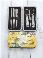 Yellow Islander Hibiscus Nail Clippers Set