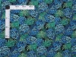 Exotic Monstera Blue&Black Poly Cotton ZGQ-18-22