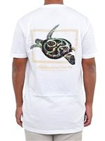 HIC Honu Frame White Men's Hawaiian T-Shirt