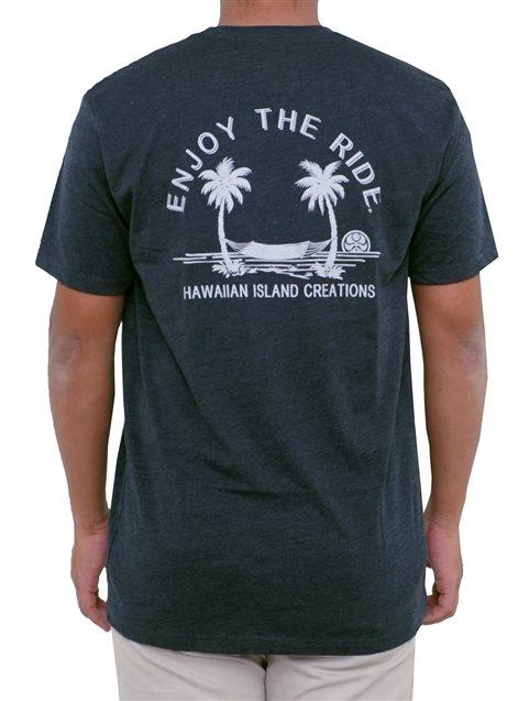 498c9dc31 HIC Enjoy Hammock Navy Heather Men's Hawaiian T-Shirt | AlohaOutlet