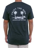 HIC Enjoy Hammock Navy Heather Men's Hawaiian T-Shirt