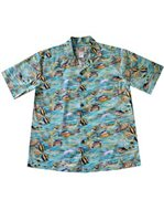KY'S Tropical Fish Green Men's Hawaiian Shirt