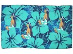 Hinano Tahiti Victoria Teal Screen Printed Pareo