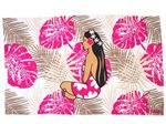 Hinano Tahiti Tessa White Screen Printed Pareo