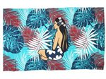 Hinano Tahiti Tessa Teal Screen Printed Pareo