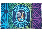 Hinano Tahiti Rini Blue Screen Printed Pareo