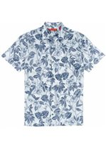 Tori Richard Tropical Toile White Cotton Lawn Pucker Men's Hawaiian Shirt