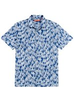 Tori Richard Regatta Navy Cotton Lawn Men's Hawaiian Shirt