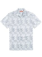 Tori Richard Hoopla White Cotton Lawn Men's Hawaiian Shirt