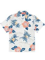 Tori Richard Pineapple Road Wine Silk Lyocell Men's Hawaiian Shirt