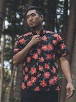 de64a05dc Avanti Hibiscus Trails Black Cotton Men's Hawaiian Shirt