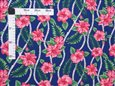Sweet Hibiscus Lei Navy Poly Cotton FK-010