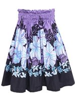 Graceful Hibiscus Lavender Poly Cotton OW-01