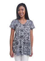 Coral of the Sea Monstera Black&White Polyester Spandex Patty Top