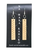 Na Maka Kahiko Ohe (Bamboo) Niho Niho Earrings