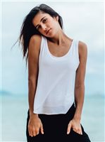 Vermilli Hawaii White OB Tank