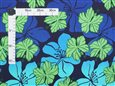 Happy Hibiscus Navy Poly Cotton OW-05