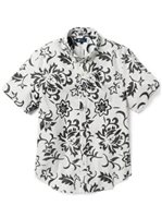 Reyn Spooner Pareau Royale White Alyssum Poly Cotton Men's Tailored Fit Hawaiian Shirt
