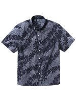 Reyn Spooner April Downpour Peacoat Cotton Men's Classic Fit Hawaiian Shirt