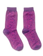 Hibiscus Magenta Men's Hawaiian Socks