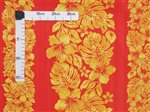 Hibiscus & Monstera Red and Yellow Poly Cotton CHOE-400