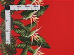 Bird of Paradise  Red Poly Cotton HH-223