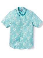 Reyn Spooner Summer Pareau Blue Turquoise Cotton Men's Tailored Fit Hawaiian Shirt