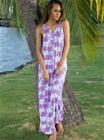 Hinano Tahiti Pua Purple Women's Dress