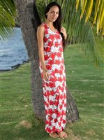 Hinano Tahiti Pua Red Women's Dress