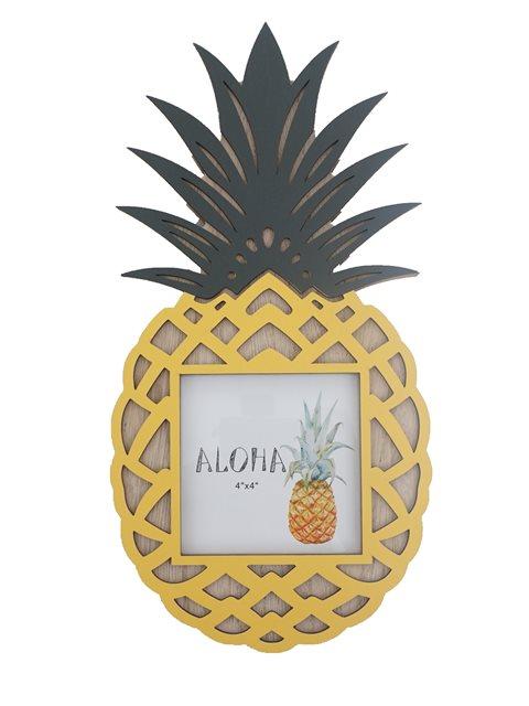 a7d21162c8679 Pineapple Hawaiian Wood Photo Frame | AlohaOutlet