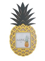 Pineapple Hawaiian Wood Photo Frame