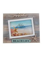 Beach Life Hawaiian Wood Photo Frame