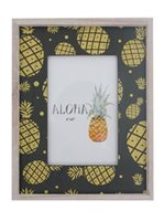 Pineapple Black Hawaiian Wood Photo Frame