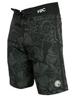HIC Flor Real Charcoal Poly Spandex Men's Boardshorts