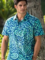 Hinano Tahiti Siua Florida Keys Cotton Men's Hawaiian Shirt