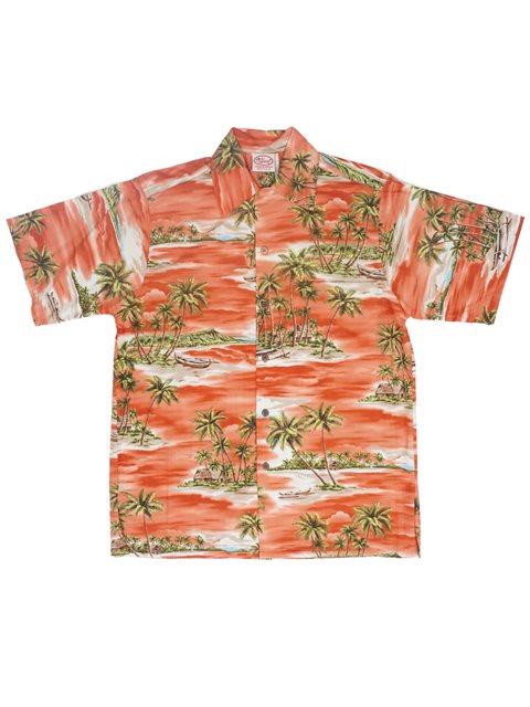700e635b Go Barefoot Paradise Orange Cotton Men's Hawaiian Shirt | AlohaOutlet