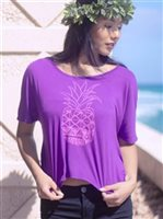 Hinano Tahiti Juiet Purple Women's T-Shirt