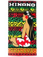 Hinano Tahiti Warren Red Beach Towel