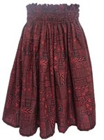 Tapa Black&Rust Poly Cotton Single Pau Skirt