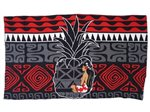 Hinano Tahiti Lysa Red Screen Printed Pareo