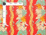 Plumeria Lei Red Poly Cotton LW-18-623