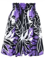 Ho ili ili Leaf Black & Purple Poly Cotton HH-102