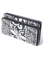 Happy Wahine Allison Tapa Tiare Black Wallet