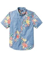 Reyn Spooner South Pacific Garlands Allure Polycotton Men's Tailored Fit Hawaiian Shirt