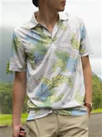 Monterey Club Dry Swing Aloha Cool Grey Men's Polo Shirt