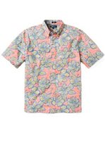 Reyn Spooner Hibiscus Orchard Persimmon Polycotton Men's Classic Fit Hawaiian Shirt