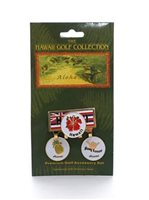 Hawaiian Flag  Hat Clip & 3 Marker Set