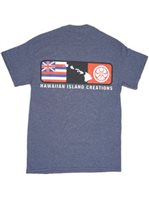HIC Block Party Navy Heather Men's Hawaiian T-Shirt